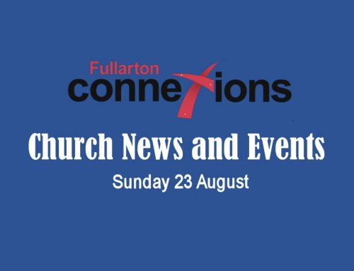 Service Sheet for Sunday 23 August.