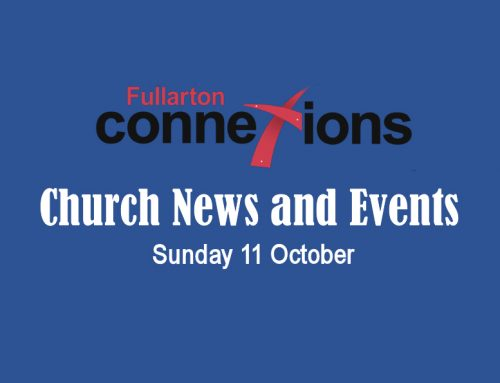 Service Sheet for Sunday 11 October.