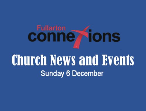 Service Sheet for Sunday 6 December.