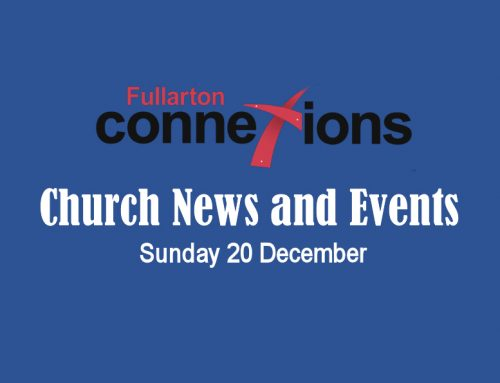 Service Sheet for Sunday 20 December.