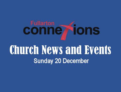 Service Sheet for Sunday 20 December.
