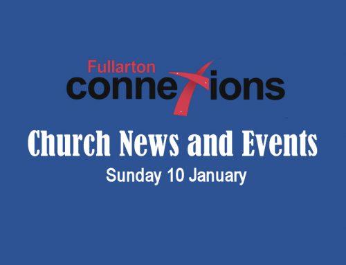 Service Sheet for Sunday 10 January.