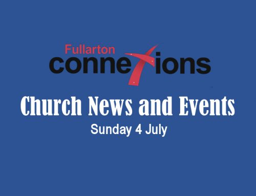 Service Sheet for Sunday 4 July.
