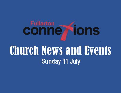 Service Sheet for Sunday 11 July.