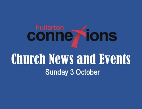 Service Sheet for Sunday 3 October.