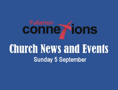 Service Sheet for Sunday 5th September.