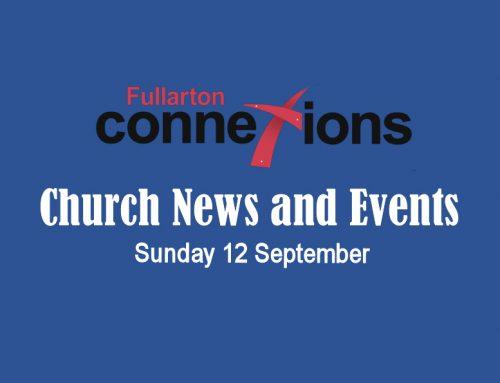 Service Sheet for Sunday 12 September.