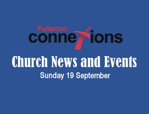 Service Sheet for Sunday 19 September.