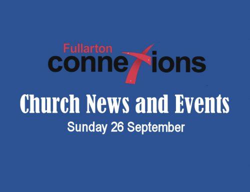 Service Sheet for Sunday 26 September.